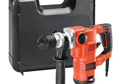 BlackDecker pneumatischer Bohrhammer KD1250K Kraftvoller SDS Bohrhammer mit Zweithandgriff und 500x330 - Black+Decker pneumatischer Bohrhammer KD1250K - Kraftvoller SDS-Bohrhammer mit Zweithandgriff und 3,5 J Schlagenergie zum Bohren, Hammerbohren & Meißeln - 1 x Schlagbohrhammer 1250 W